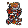Red Orange Tiger Pattern Self Adhesive Paper Sticker for Car Auto