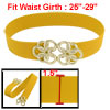 Gold Tone Twisted Circle Flower Buckle Yellow Elastic Waist Cinch...