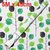 Home Decor Branch Leaf Pattern Adhesive Wallpaper Roll 5M x 45cm