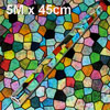 Home Decor Multicolor Irregular Pattern Wallpaper Roll Sticker 5M...
