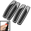 4 Pcs Black Gray Plastic Adhesive Auto Car Door Bumper Guard Stic...