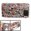 Red Black Leopard Pattern Multifunction Paper Tissue Box Card CD Holder Pouch