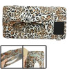 Orange Black Leopard Pattern Multifunction Tissue Box Card CD Holder Pouch
