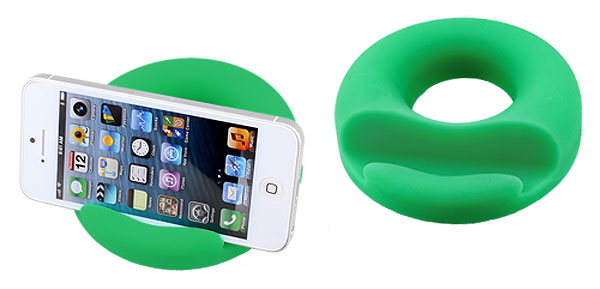 Anti Slip Green Polyurethane PU Sticky Round Pad for Mobile Cell Phones
