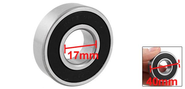 40mm x 17mm x 12mm Shielded Deep Groove Ball Bearings 6203VV