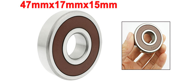 47mmx17mmx15mm Miniature Radial Sealed Deep Groove Ball Bearings 6303DD