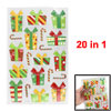Christmas Gifts Pattern Self Adhesive Home Wall Decor Stickers 20 in 1