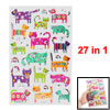 Cats Dogs Pattern Self Adhesive Home Wall Decor Stickers 27 in 1