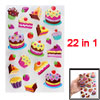 Strawberry Bread Pattern Self Adhesive Home Wall Decor Stickers 2...