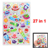 Rockets Pattern Self Adhesive Home Wall Decor Stickers 27 in 1