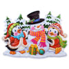 3D Cartoon Duck Snowman Design Christmas Stickers Wall Decals