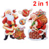 3D Santa Claus Design Christmas Stickers Wall Decals 2 Pcs