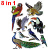 3D Peacock Magpie Pattern Self Adhesive Home Wall Decor Stickers ...