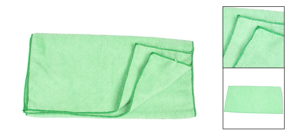 Light Green Door Glass Wash Towel Cloth Cleaner for Vehicle Auto