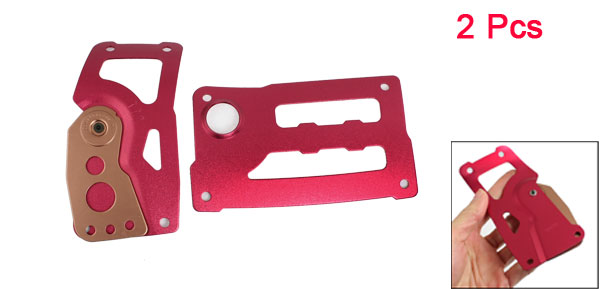 2 Pcs Burgundy Metal Brake Gas AT Foot Pedal Covers Pads