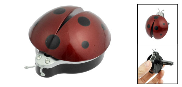 Car Air Vent Ladybug Design Fragrance Purifier Freshner Dark Red