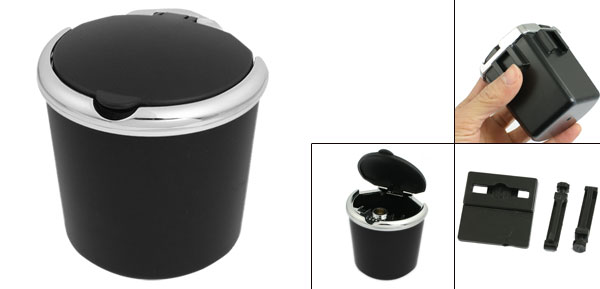 Home Auto Car Air Vent Plastic Cigarette Ashtray Cup Holder Black