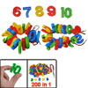 Children Assorted Color Plastic Early Education Arabic Numbers To...