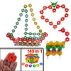 143 in 1 Assorted Color Plastic DIY Building Puzzle Snowflake Blo...