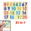 Child Intelligence Training Assorted Color Wood Arabic Numbers To...