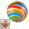 "Kids 8.5"" Dia Multicolor Stripes Inflatable PVC Soccer Football T..."