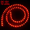 72cm Length Red 72 LED Light Lamp Decoration for Vehicle Truck