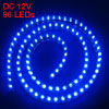 Auto Car Interior Blue 96 LED Flexible Light Strip Bar 96cm Long