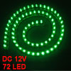 70cm Length Green 72-LED Flexible Light Strip Bar Decor