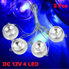 2 Pcs Blue 4-LED Bulb Car Trailer Side Marker Light Lamp