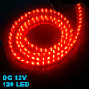 Vehicle Auto Flexible Red 120 LED Light Strip Lamp Decoration
