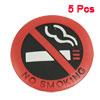 "Car Truck Window No Smoking Sign Warning Sticker 2\"" Dia 5 Pcs"