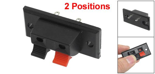Single Row Red Black Clamping Speaker Terminal Plate 2 Positon