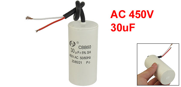 CBB60 AC 450V 30uF Cylindrical Non Polar Motor Capacitor