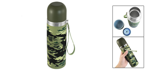 Outdoor Stainless Steel Vacuum Thermos Warm Cup Mug Bottle 500ml