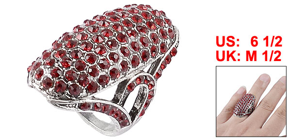 Red Glittery Rhinestone Accent 0.12