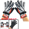 Black Nonslip Dotted Design Full Finger Gloves Orange Gray for Me...