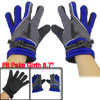 Black Nonslip Dotted Design Full Finger Gloves Gray Blue for Men