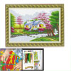 Woman River Tree House Pattern Cross Stitch Counted Gift Handmade Kit