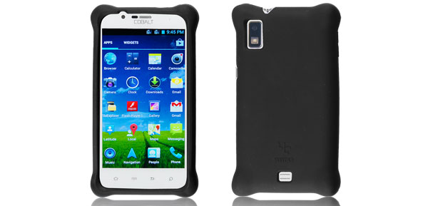 Black Silicone Skin Case Cover Protector for Cobalt SP500