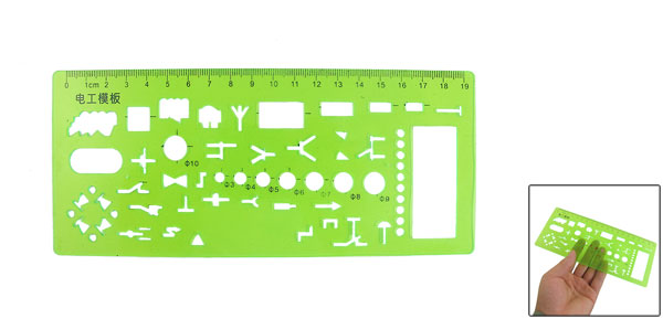Geometric Electrician Formwork Centimeter Measuring Template Ruler Green