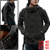 Korean Stars Decor Long Sleeve Stand Collar Fleece Hooded For Men...