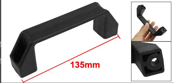 120mm Hole Spacing Door Cupboard Plastic Pull Handle Black