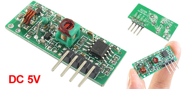 DC5V 315/433MHZ ASK/OOK -106db Wireless Decoder Receiver Module 315M R03A