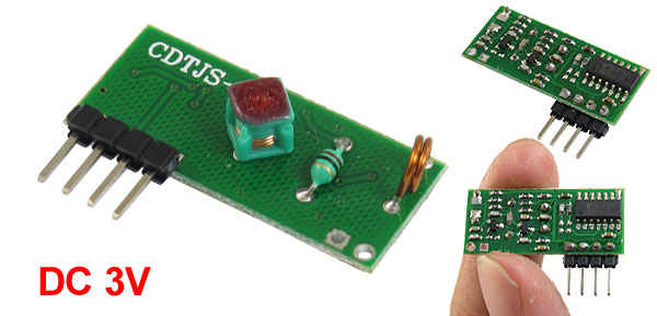 DC3V 250/450MHZ ASK/OOK -100dbm Wireless Receiver Module CDTJS-4