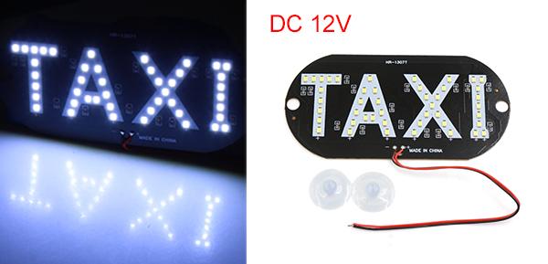 Adheisve Plastic Car Windshield 45 LED Signal Taxi Light Lamp White
