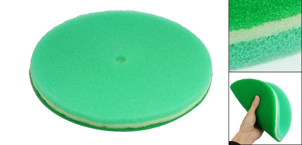 Green 3 Layers Mushroom Dry Air Filter Sponge Replacement 245x20x15mm