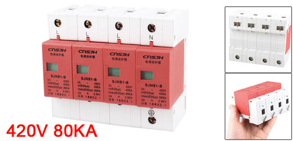 420V 80KA 40KA In 4 Poles Surge Protection Device Arrester