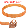 Orange Soft Plastic 10mm Width Electric Power Drive Belt for Hita...