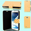 Polka Dots Pattern Pale Orange Flip Case Cover for Samsung Galaxy Note II N7100