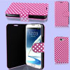 Polka Dots Pattern Fuchsia Flip Case Cover for Samsung Galaxy Note II N7100
